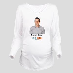Modern Family Phil P Long Sleeve Maternity T-Shirt