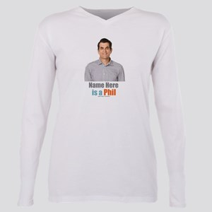 Modern Family Phil Perso Plus Size Long Sleeve Tee