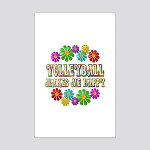 Volleyball Happy Place Mini Poster Print
