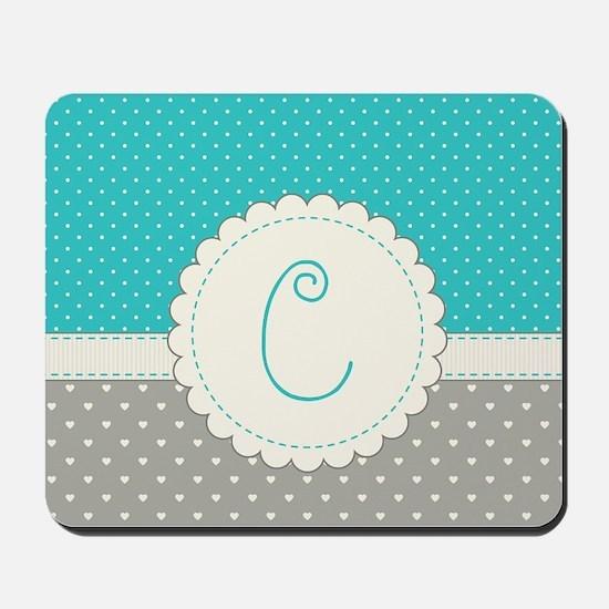 Cute Monogram Letter C Mousepad
