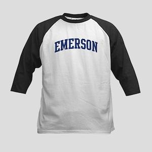 EMERSON design (blue) Kids Baseball Jersey