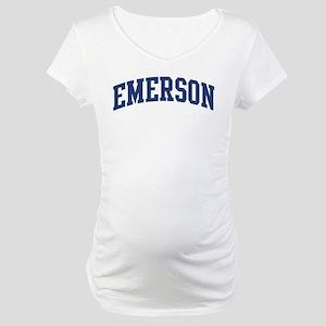 EMERSON design (blue) Maternity T-Shirt