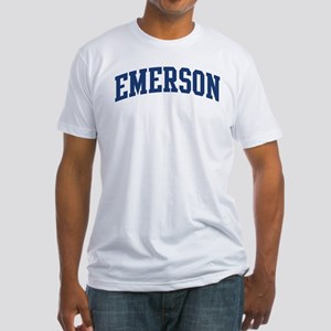 EMERSON design (blue) Fitted T-Shirt