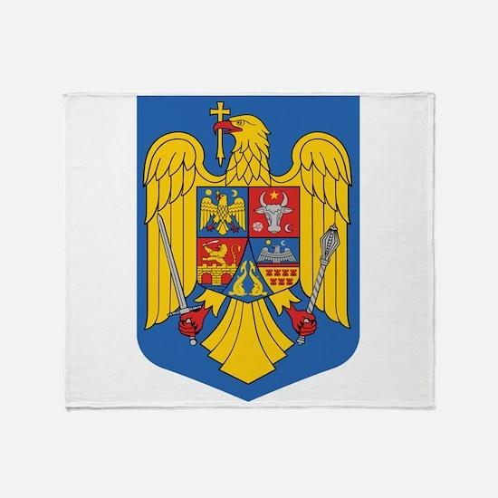 Romania Coat Of Arms Throw Blanket
