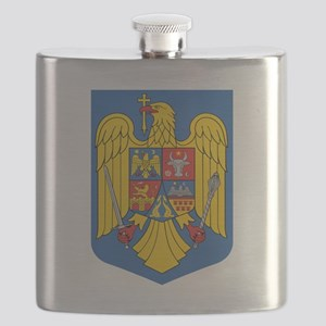 Romania Coat Of Arms Flask
