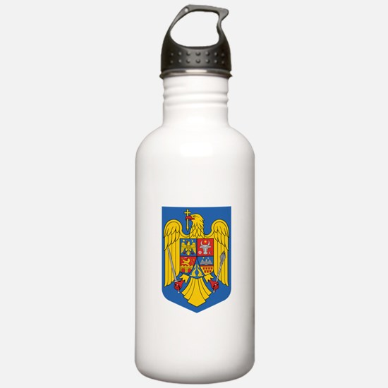 Romania Coat Of Arms Water Bottle