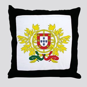 Portugal Coat Of Arms Throw Pillow