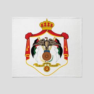 Jordan Coat Of Arms Throw Blanket
