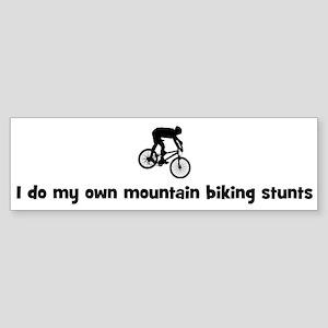 Mountain Biking stunts Bumper Sticker