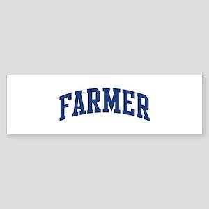 FARMER design (blue) Bumper Sticker