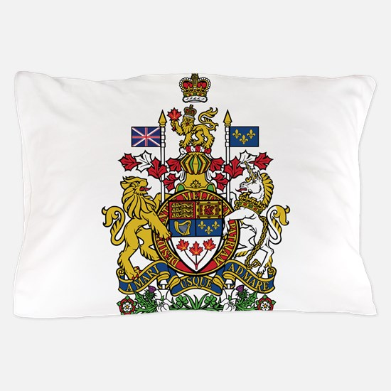 Canada Coat Of Arms Pillow Case