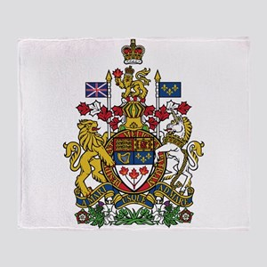 Canada Coat Of Arms Throw Blanket