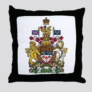 Canada Coat Of Arms Throw Pillow