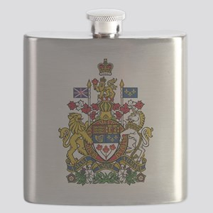 Canada Coat Of Arms Flask