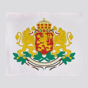 Bulgaria Coat Of Arms Throw Blanket