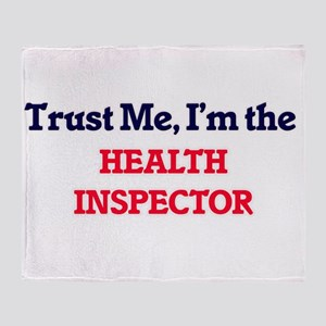 Trust me, I'm the Health Inspector Throw Blanket