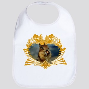 Squirrely Squirrel Crest Bib