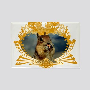 Squirrely Squirrel Crest Rectangle Magnet
