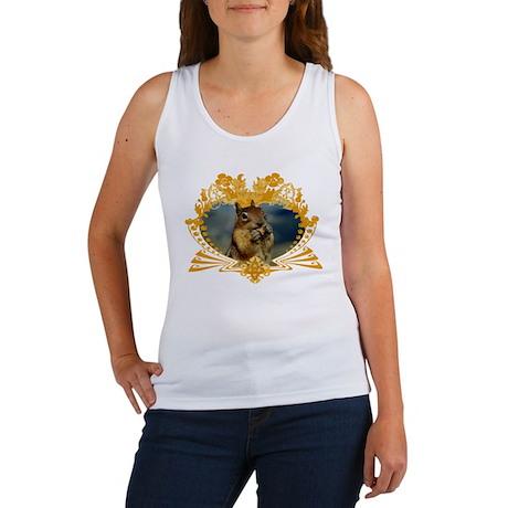 Squirrely Squirrel Crest Women's Tank Top