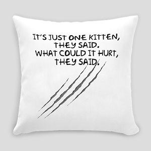 Just One Kitten Everyday Pillow