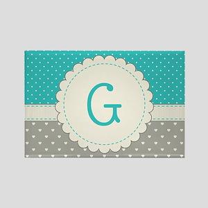 Cute Monogram Letter G Magnets