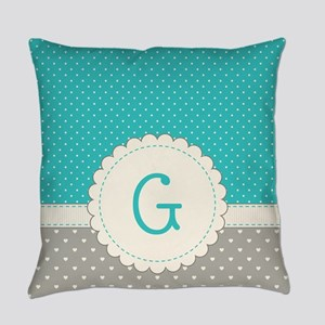 Cute Monogram Letter G Everyday Pillow