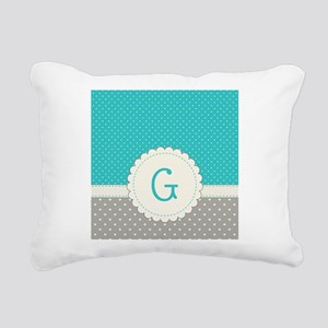 Cute Monogram Letter G Rectangular Canvas Pillow