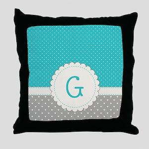Cute Monogram Letter G Throw Pillow