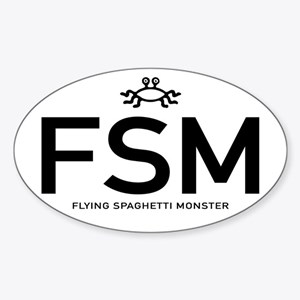 FSM: Flying Spaghetti Monster Sticker