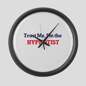 Trust me, I'm the Hypnotist Large Wall Clock