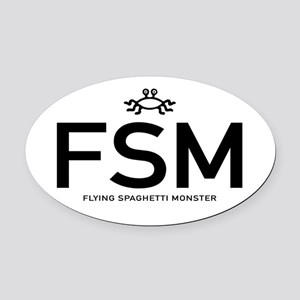 Fsm: Flying Spaghetti Monster Oval Car Magnet