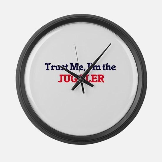 Trust me, I'm the Juggler Large Wall Clock