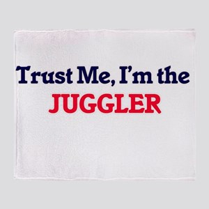 Trust me, I'm the Juggler Throw Blanket