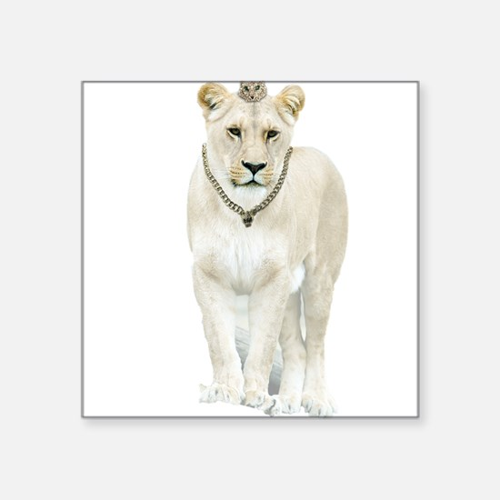 White Lioness Sticker
