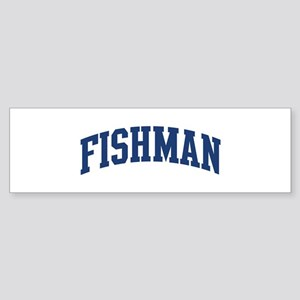 FISHMAN design (blue) Bumper Sticker