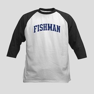 FISHMAN design (blue) Kids Baseball Jersey