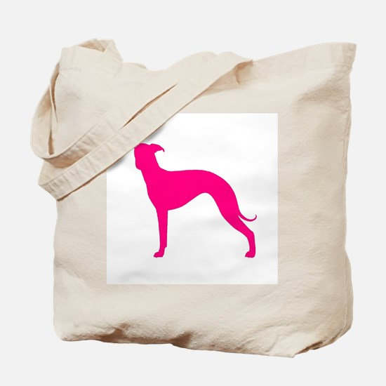 Greyhound Two Pink 1C Tote Bag