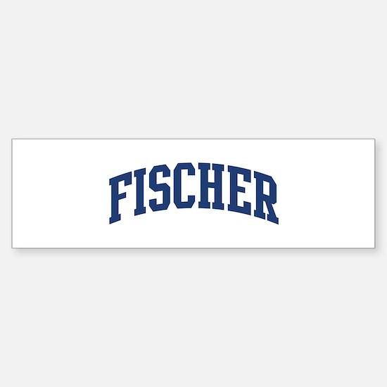 FISCHER design (blue) Bumper Bumper Stickers