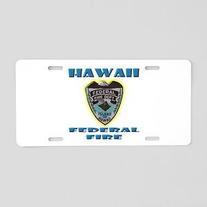 Hawaii Federal Fire Departm Aluminum License Plate