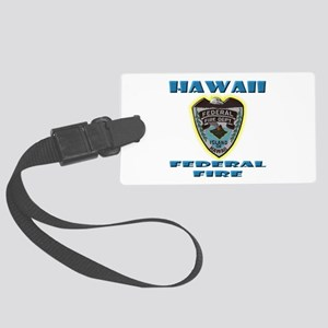 Hawaii Federal Fire Department Large Luggage Tag