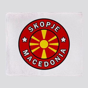 Skopje Macedonia Throw Blanket