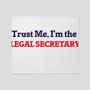 Trust me, I'm the Legal Secretary Throw Blanket