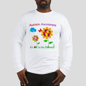 Autism Awareness Sunflower Long Sleeve T-Shirt