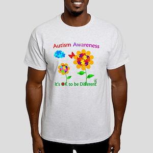 Autism Awareness Sunflower Light T-Shirt