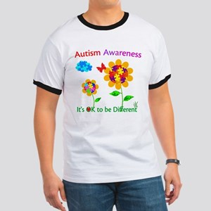 Autism Awareness Sunflower Ringer T