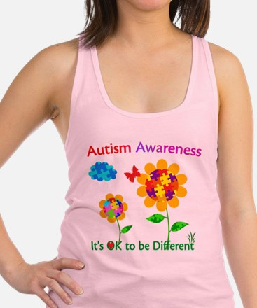 Autism Awareness Sunflower Racerback Tank Top