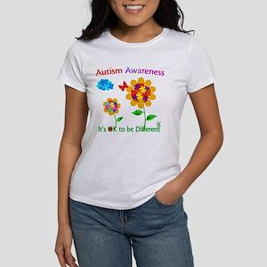Autism Awareness Sunflower Women's T-Shirt