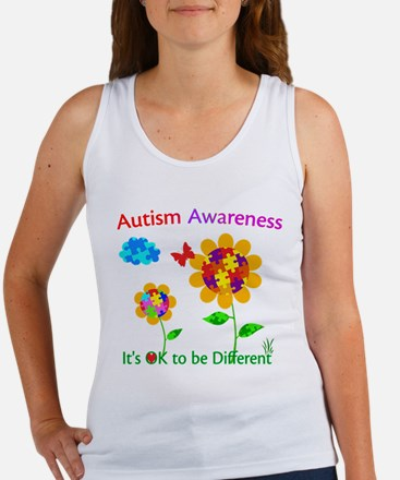 Autism Awareness Sunflower Women's Tank Top