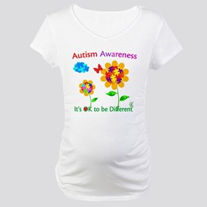 Autism Awareness Sunflower Maternity T-Shirt