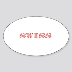 Swiss Oval Sticker